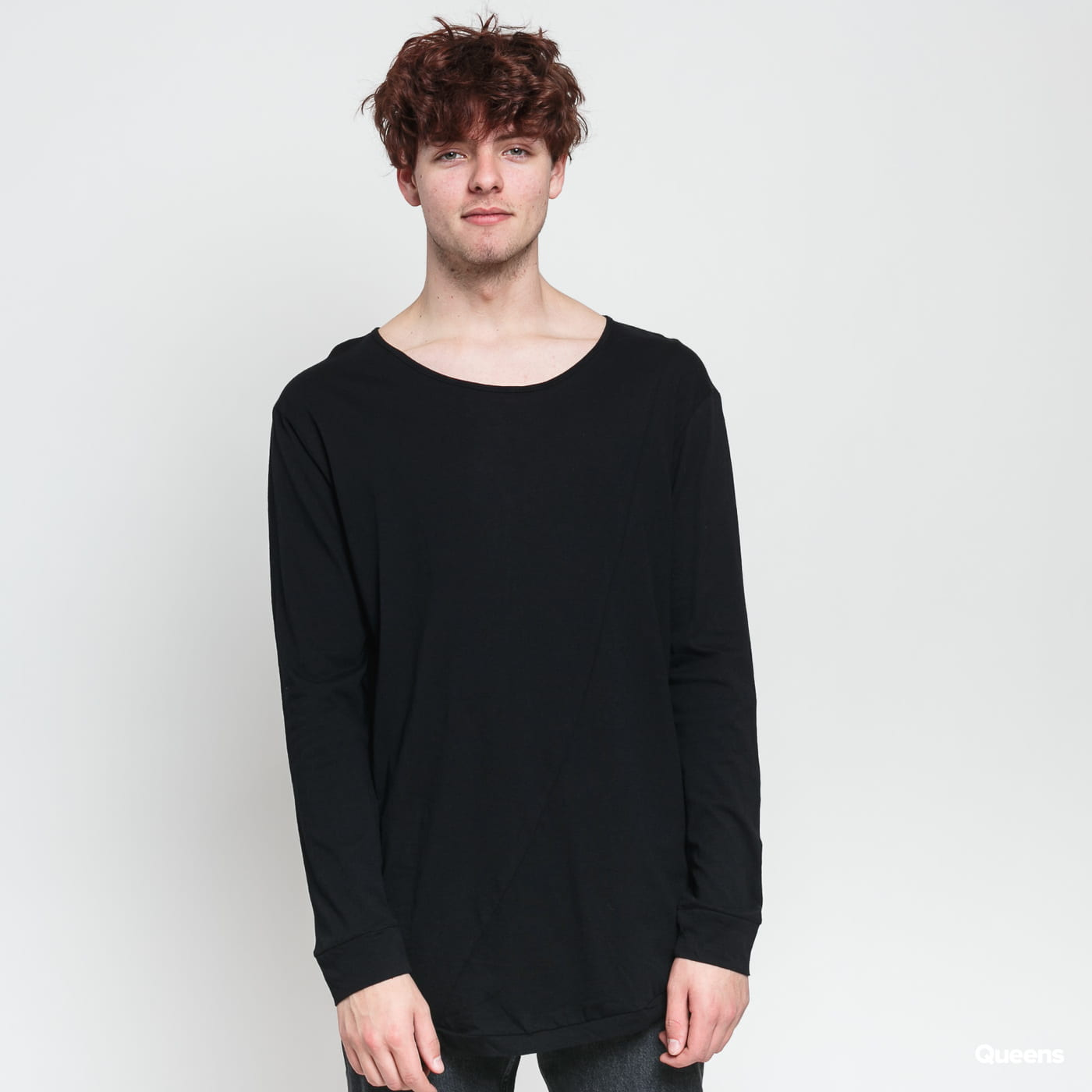 Urban Classics Long Shaped Fashion L/S schwarz