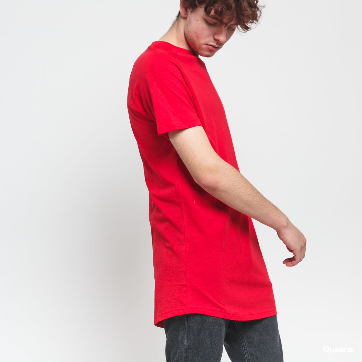 Urban Classics Long Shaped Slub Raglan červené