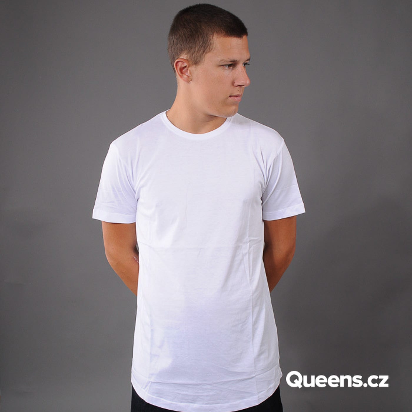 Urban Classics Shaped Long Tee 3 Pack biele