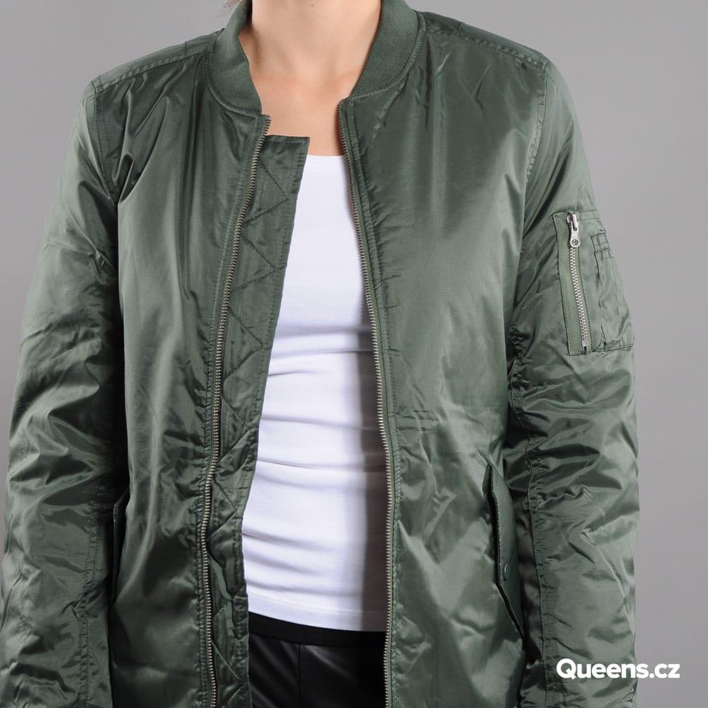 Urban Classics Ladies Long Bomber Jacket olive