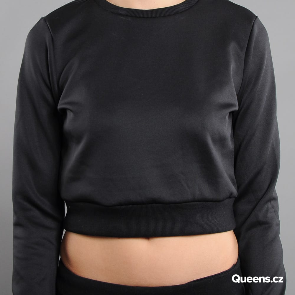 Urban Classics Ladies Scuba Cropped Crew black