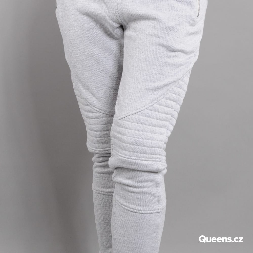 Urban Classics Ladies Melange Biker Sweatpants melange light gray