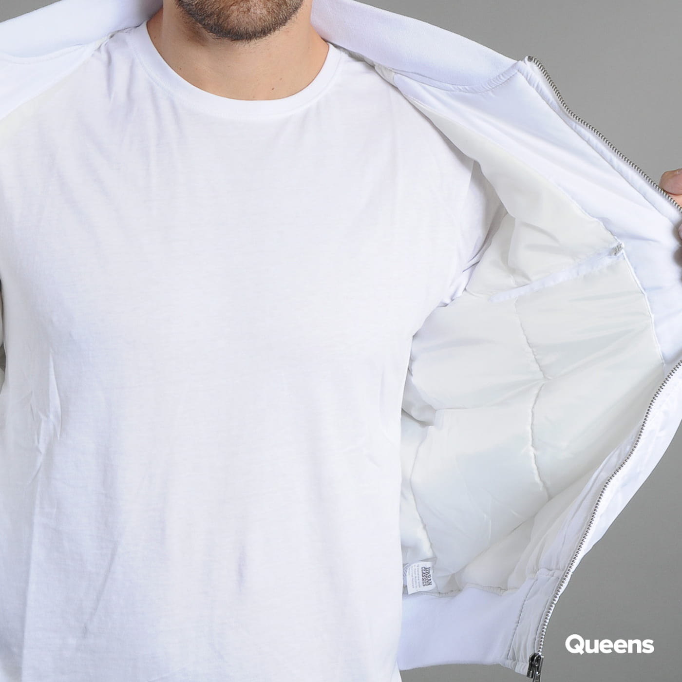 Urban Classics Basic Bomber Jacket white