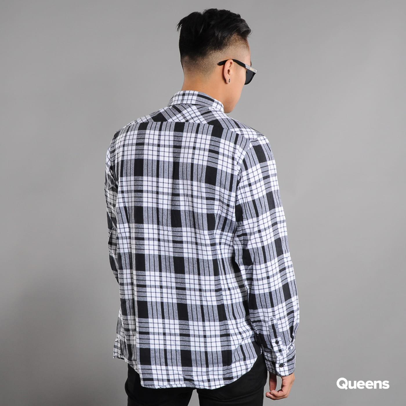 Urban Classics Checked Flanell Shirt 2 biela / čierna