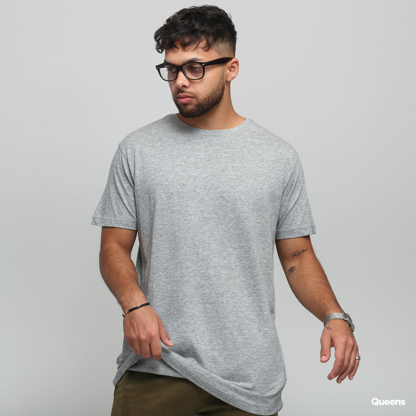 Urban Classics Shaped Long Tee 3 Pack melange gray