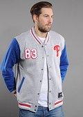 Majestic Cotland Fleece Letterman Jacket Philadelphia Phillies