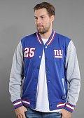 Majestic Cotland Fleece Letterman Jacket NY Giants