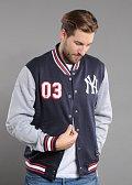 Majestic Cotland Fleece Letterman Jacket NY