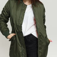 Urban Classics Ladies Long Bomber Jacket olivová