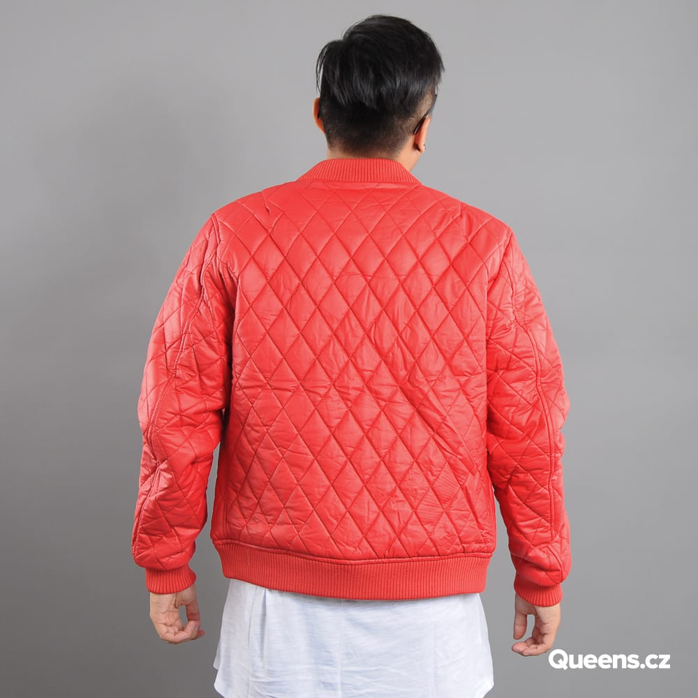 Urban Classics Diamond Quilt Leather Imitation Jacket rot
