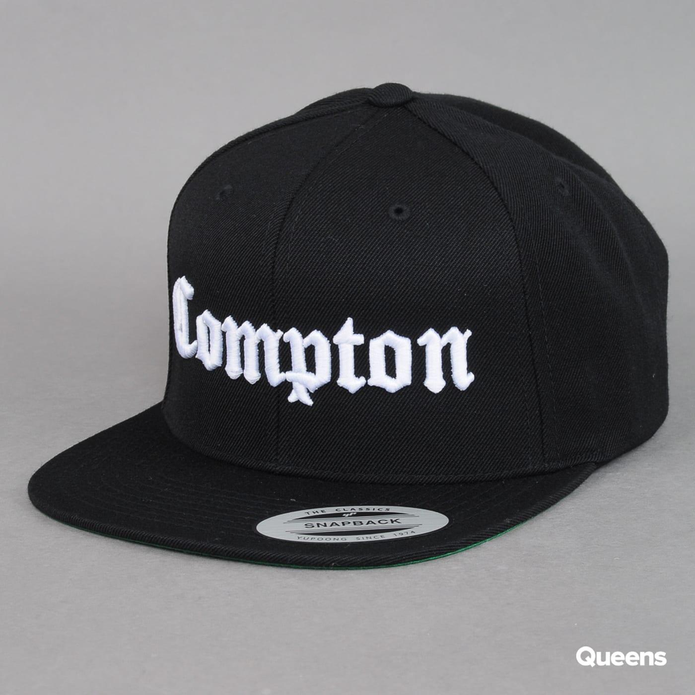 Yupoong Compton Cap schwarz / weiß
