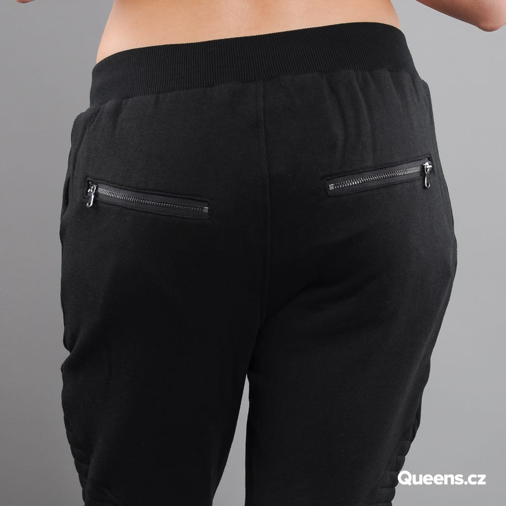 Urban Classics Ladies Melange Biker Sweatpants čierne