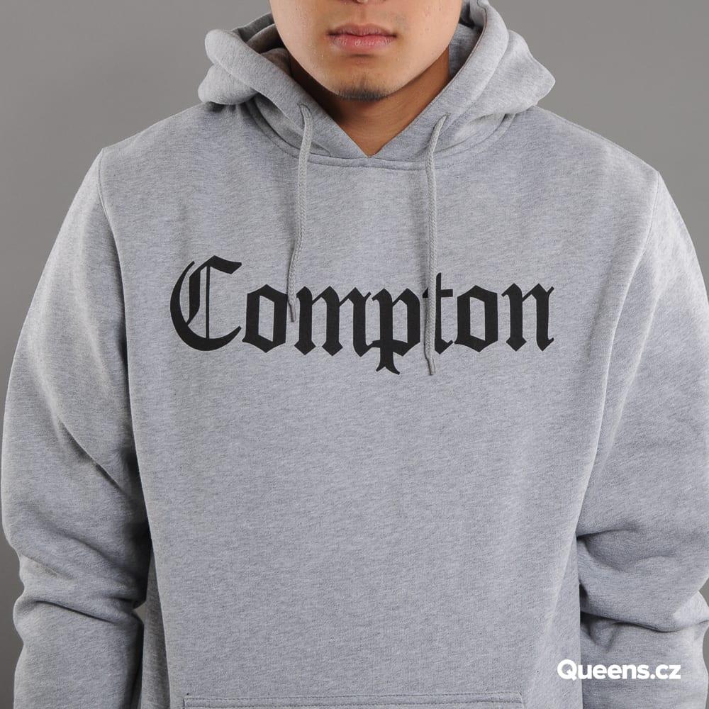 Urban Classics Compton Hoody melange gray / black