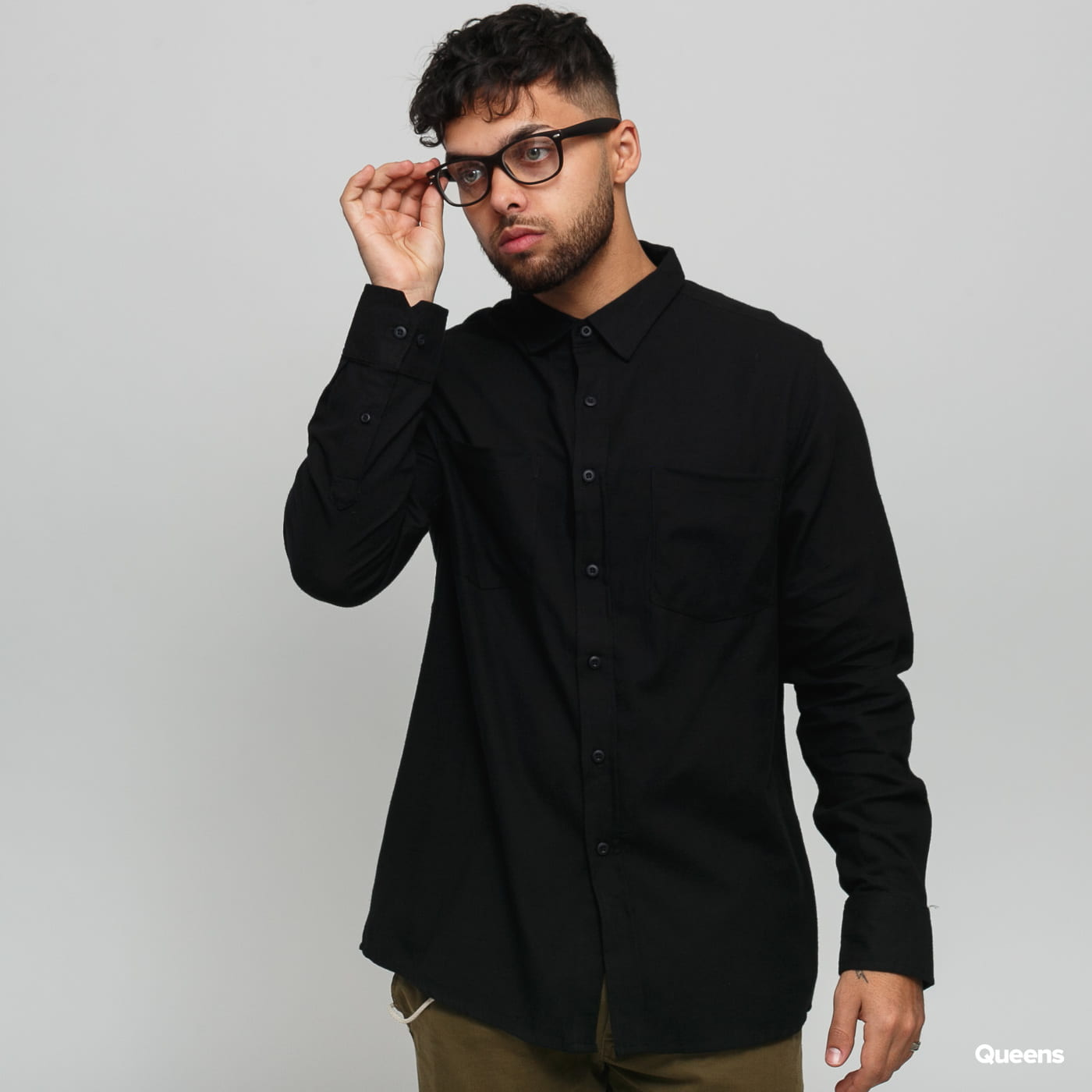 Urban Classics Checked Flanell Shirt schwarz