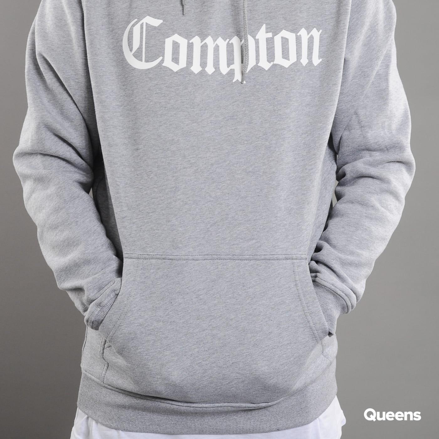 Urban Classics Compton Hoody melange grau / weiß