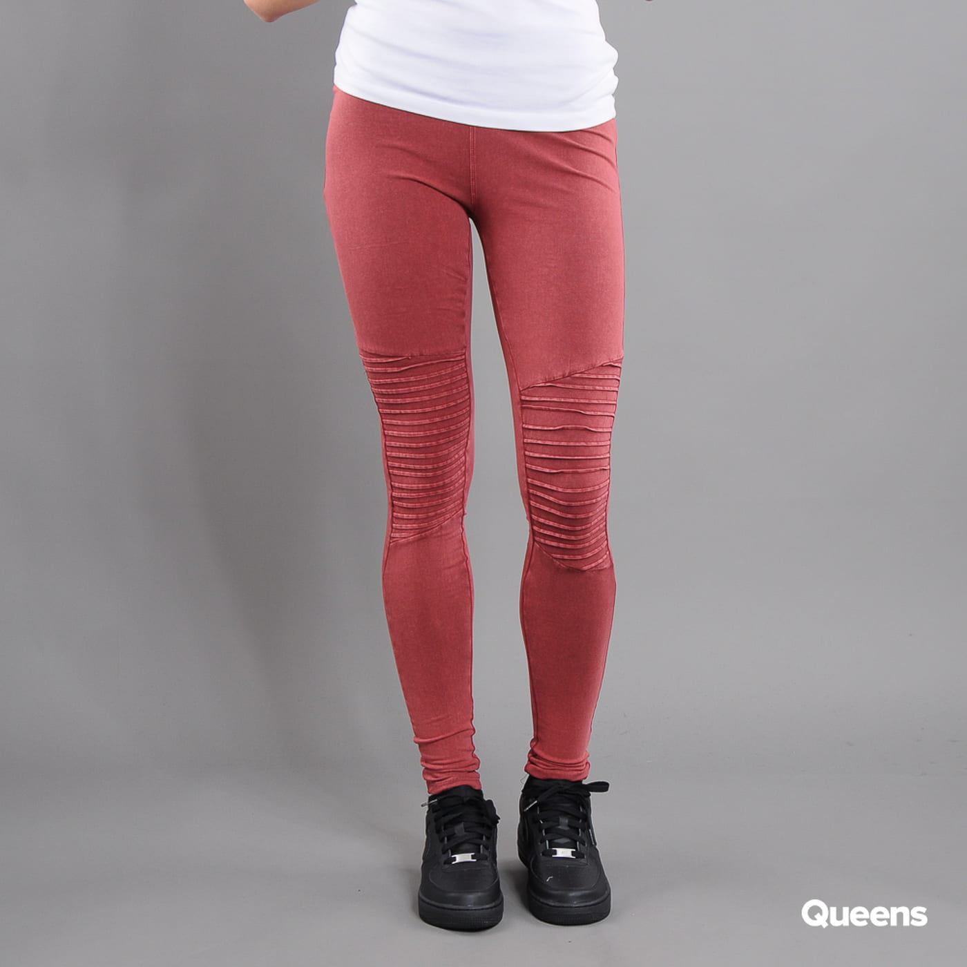 Urban Classics Ladies Denim Jersey Leggings vínové