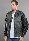 Urban Classics Basic Bomber Leather Imitation Sleeve Jacket