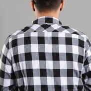 Urban Classics Long Checked Flanell Shirt černá / bílá