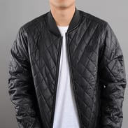 Urban Classics Diamond Quilt Leather Imitation Jacket black