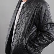 Urban Classics Diamond Quilt Leather Imitation Jacket čierna
