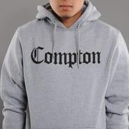 Urban Classics Compton Hoody melange šedá / černá