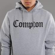 Urban Classics Compton Hoody melange šedá / čierna