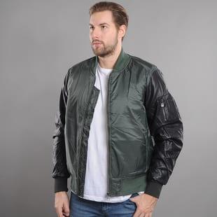Urban Classics Basic Bomber Leather Imitation Sleeve Jacket