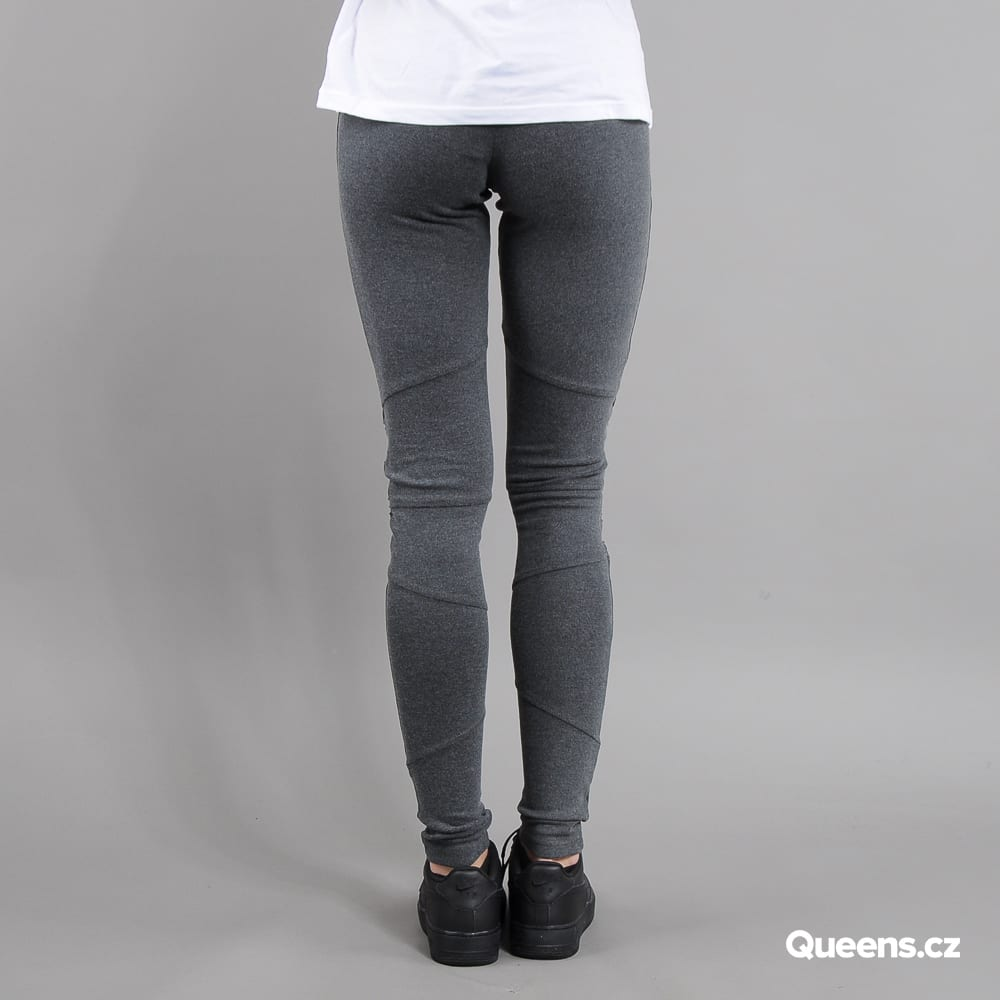 Urban Classics Ladies Interlock High Waist Leggings melange tmavošedé