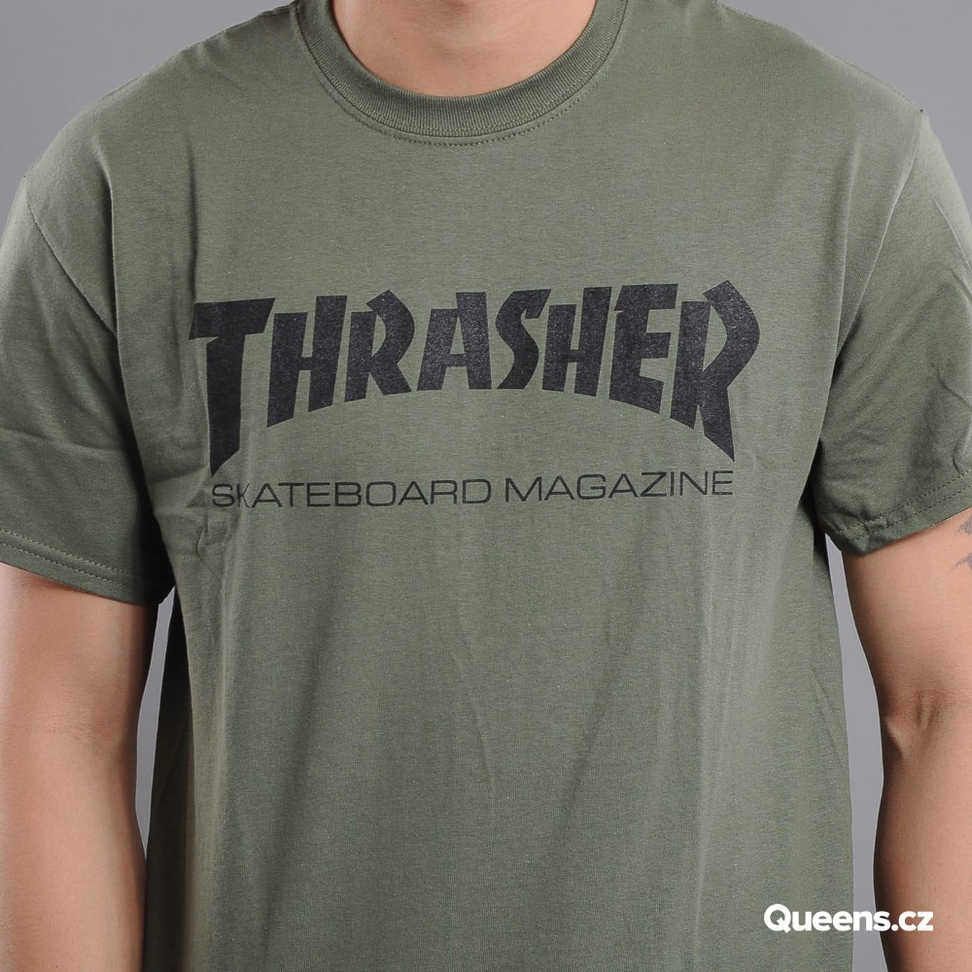 Thrasher Skate Mag olivové