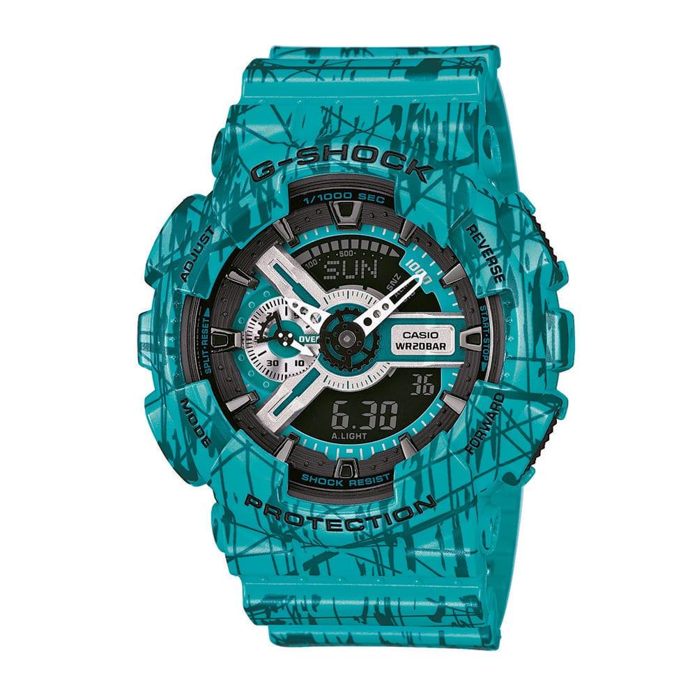 Casio G-Shock GA 110SL-3AER tyrkysové