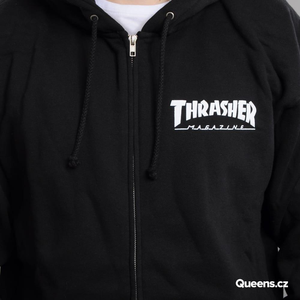Thrasher Magazine Logo Zip Hoody black