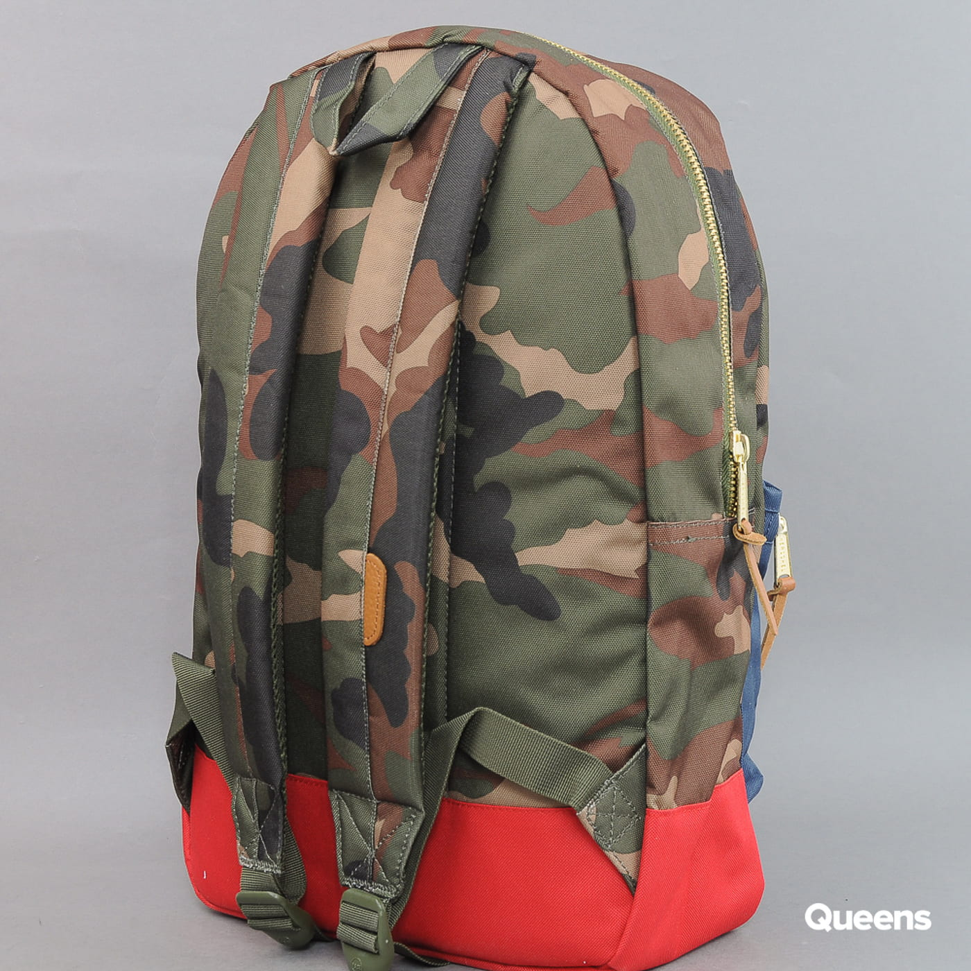 The Herschel Supply CO. Settlement Backpack camo / modrý / červený