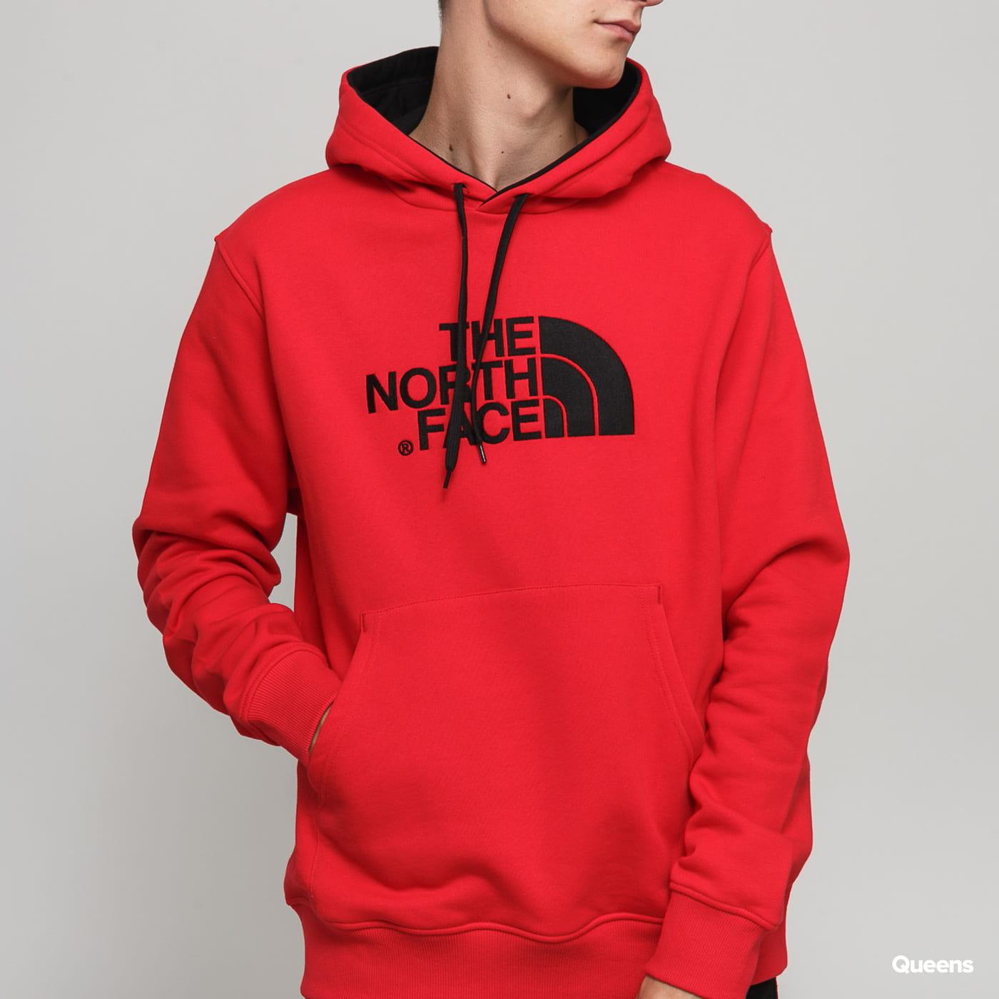 The North Face Drew Peak Pullover Hoodie červená