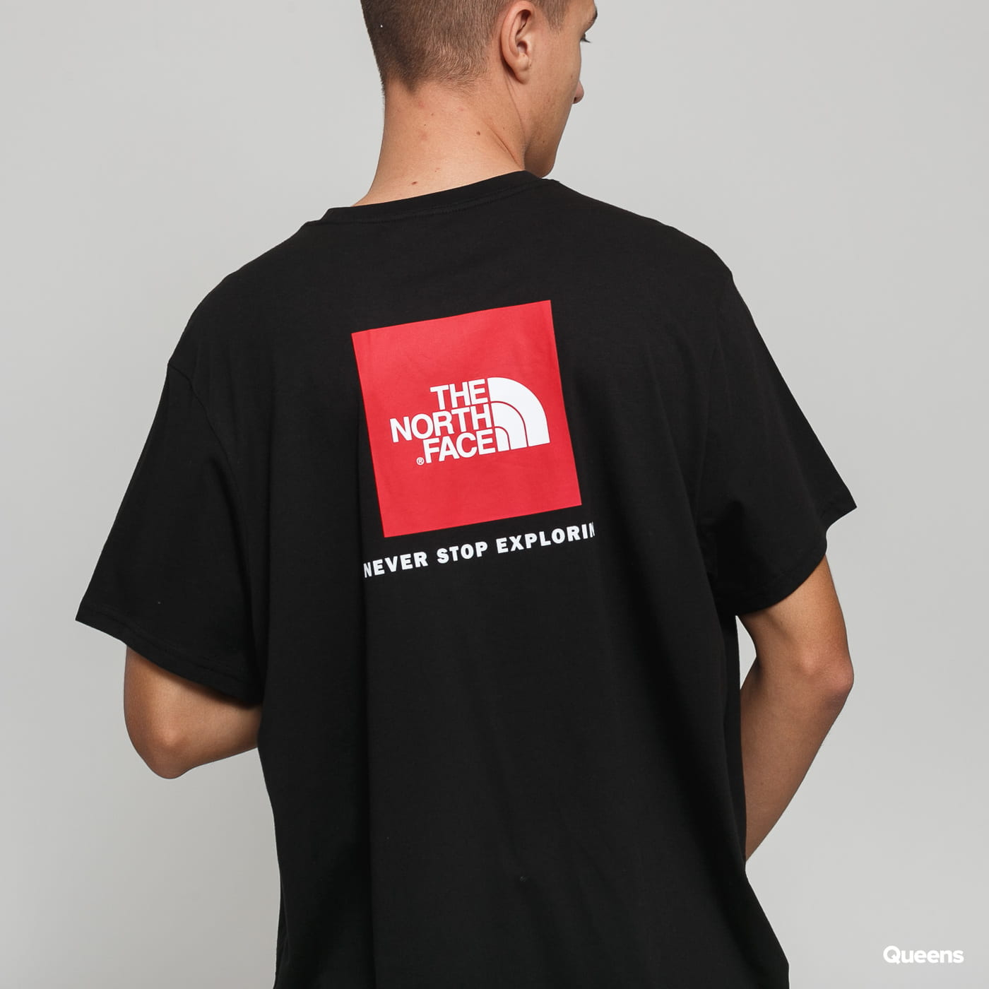 The North Face M SS Red Box Tee black