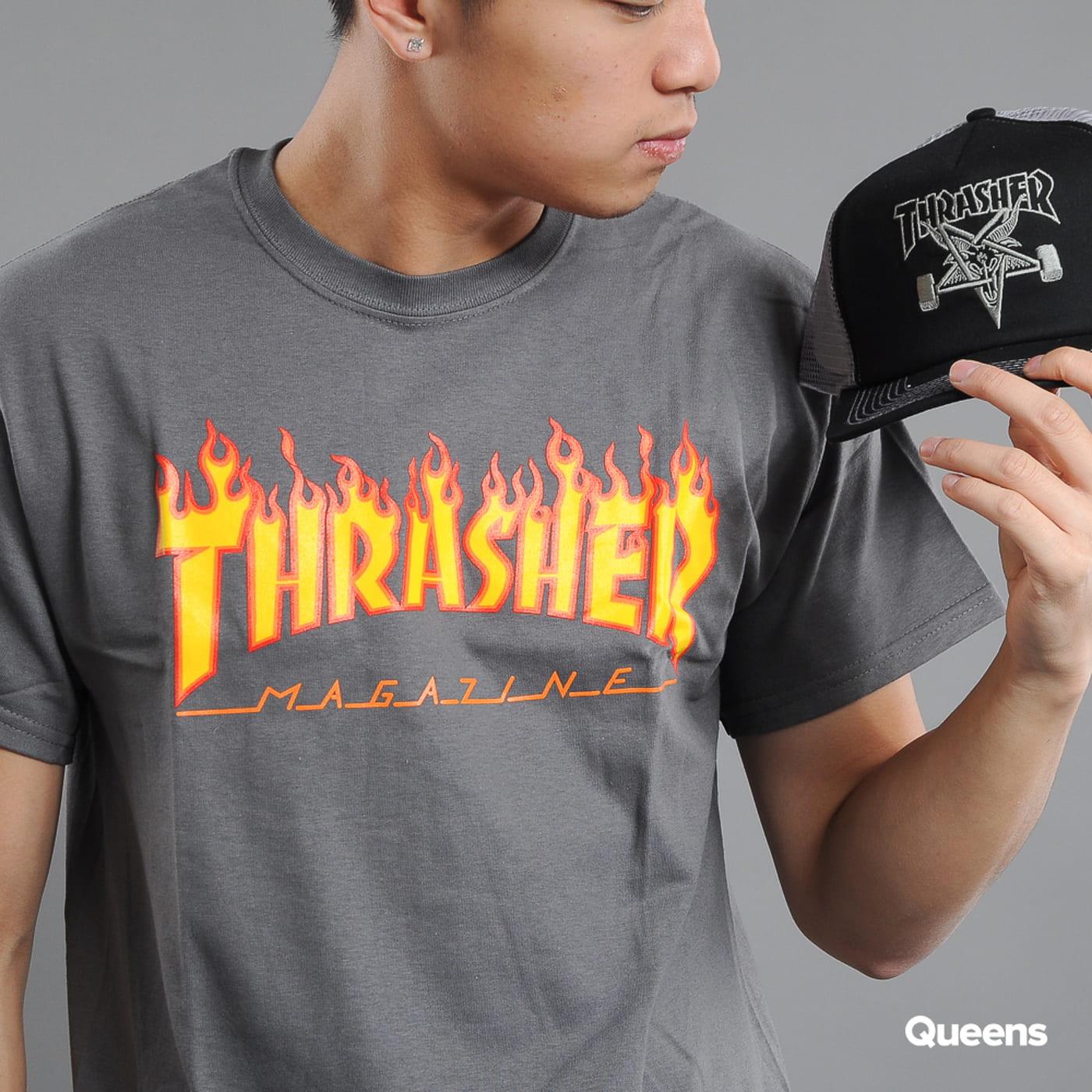 Thrasher Flame Logo tmavě šedé