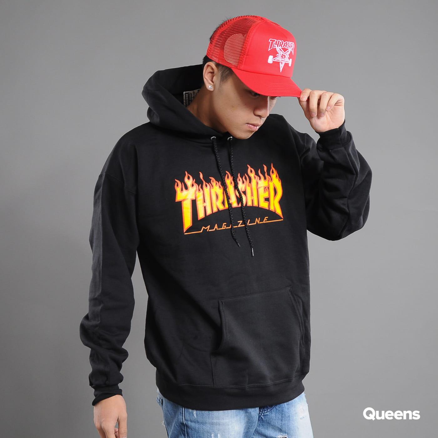 Thrasher Flame Logo Hoody čierna