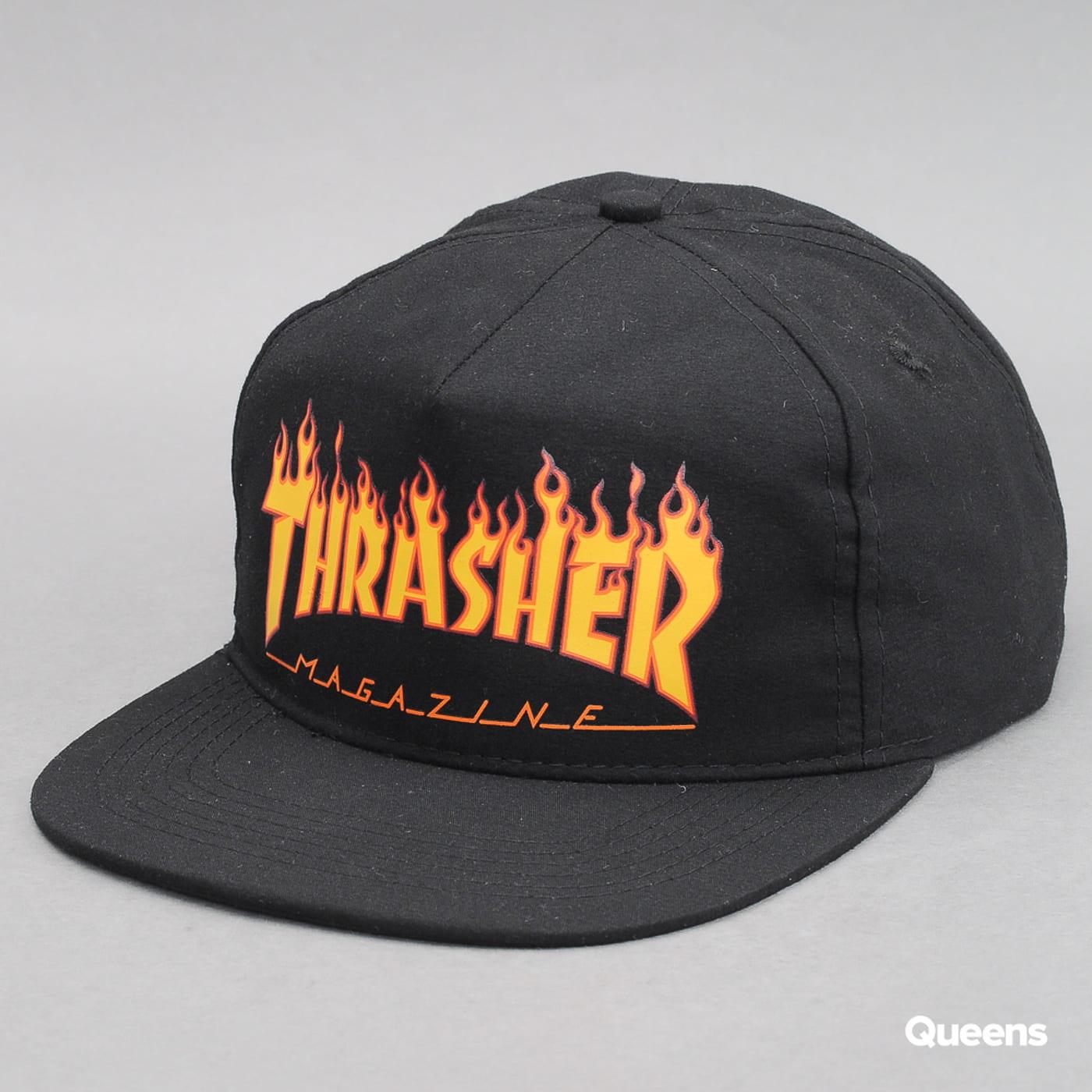 Thrasher Flame Snapback čierna