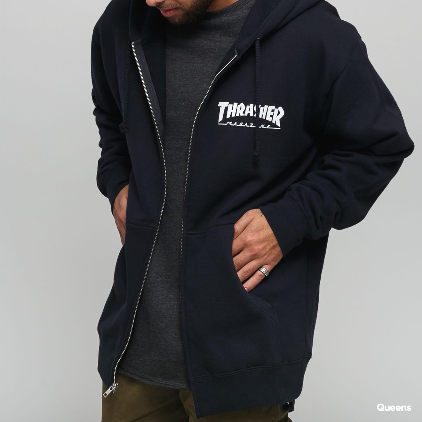 Thrasher Magazine Logo Zip Hoody čierna