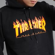Thrasher Flame Logo Hoody černá