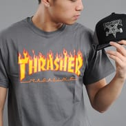 Thrasher Flame Logo dark gray