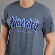 Thrasher Flame Logo melange tmavošedé