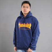 Thrasher Flame Logo Hoody navy