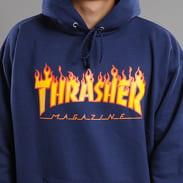 Thrasher Flame Logo Hoody Marine