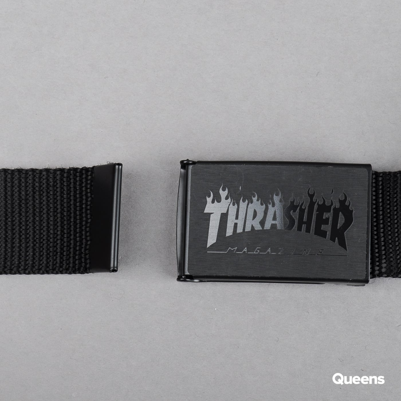 Thrasher Flame Web Belt čierny