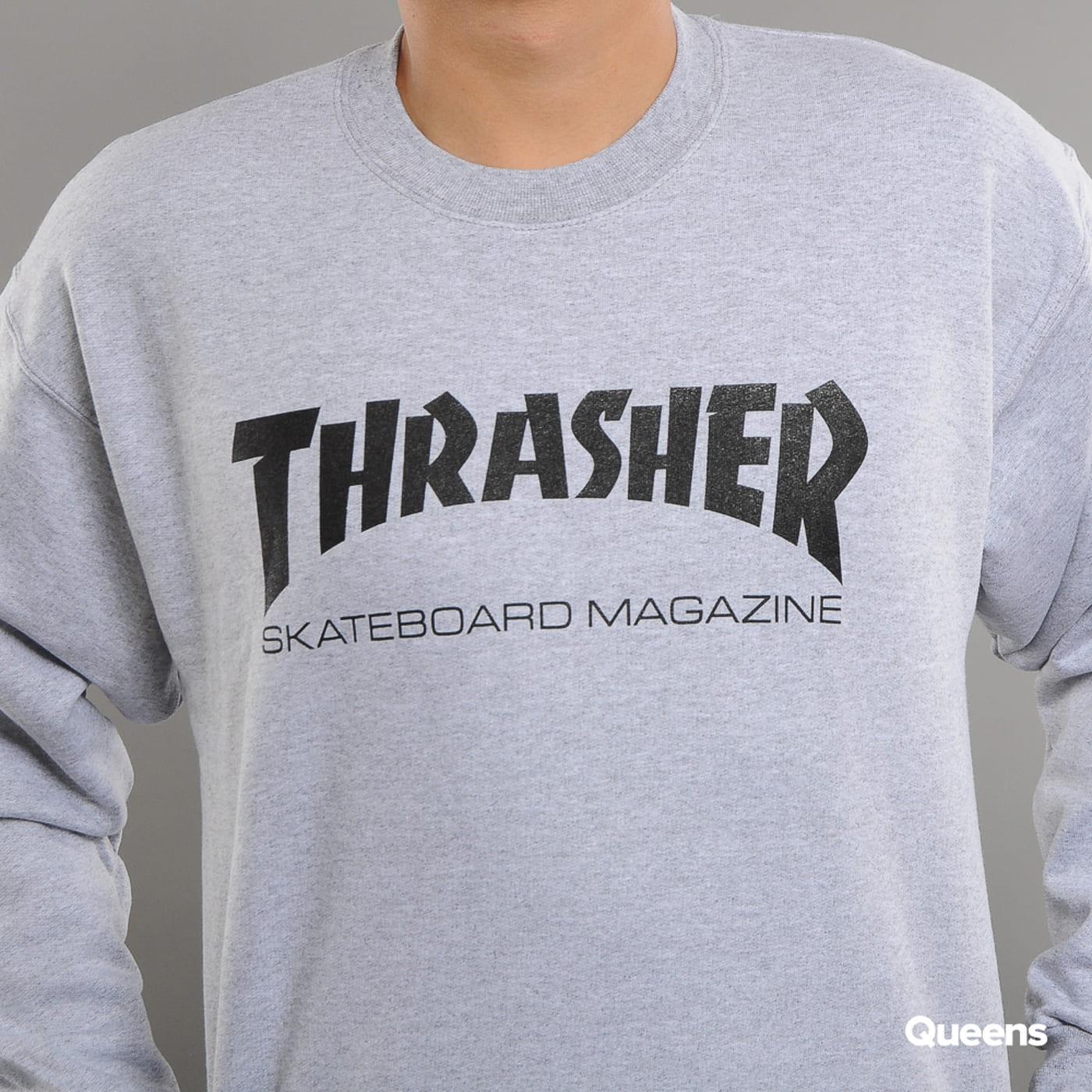 Thrasher Skate Mag Crewneck melange šedá