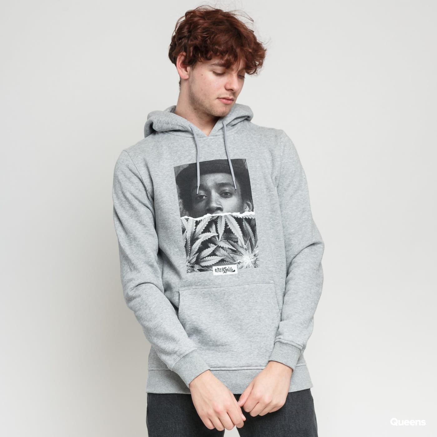 Urban Classics Wiz Khalifa Face Hoody grey melange