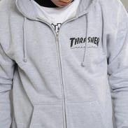 Thrasher Magazine Logo Zip Hoody melange šedá