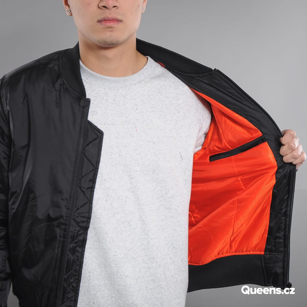 Urban Classics Tech Zip Bomber Jacket schwarz