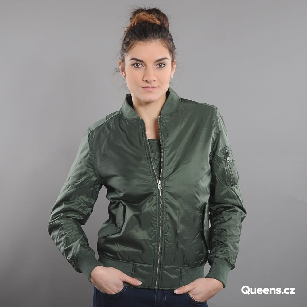 9cf52281 Women Bomber Jacket Urban Classics Ladies Basic Bomber Jacket olive (tb807)  – Queens 💚