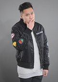 Daily Paper Patched Bomber Jacket